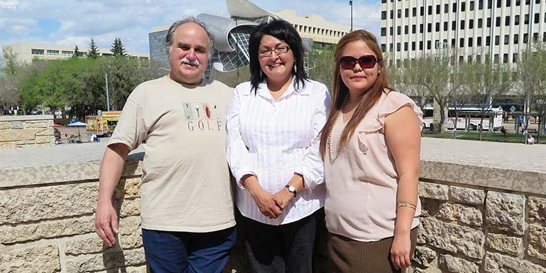 Virginia Bruneau, owner of Tu-Kanatan Inc., with partners Charles Relland and Crystal Steinhauer