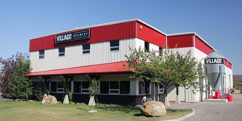 Photo of exterior of Village Brewery in Calgary