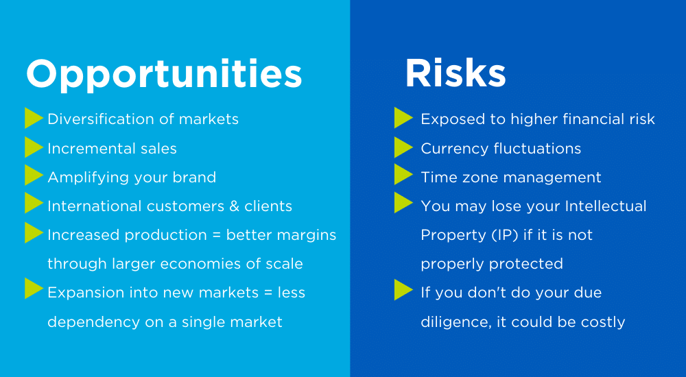 Exporting: Opportunities & Risks